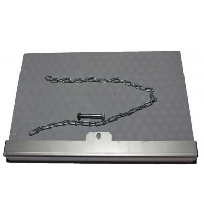 Skamol plade til BS1016 kedel, med stålkant