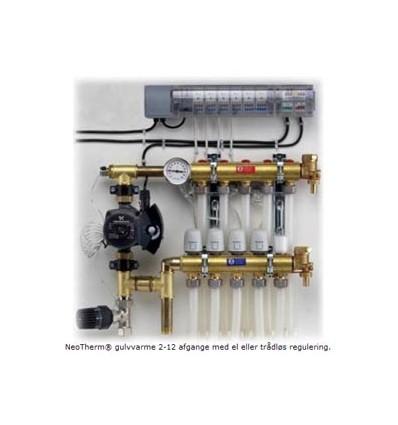 Komplet gulvvarmesystem, 4 kredse ( ledningsført )