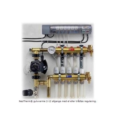 Komplet gulvvarmesystem, 11 kredse ( ledningsført )