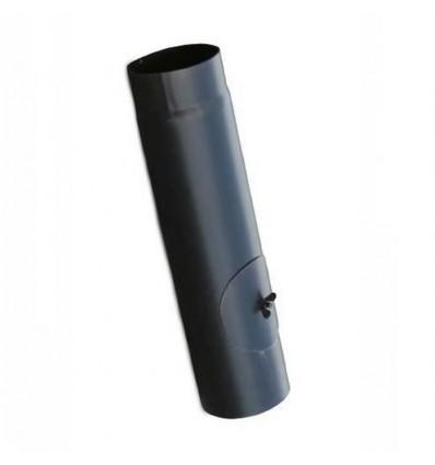 Røgrør lige m/klap L500mm Ø130mm